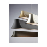 zhane linear pendant finish options, black rubberized, stain nickel