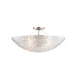 trace semi flush ceiling light, satin nickel, italian piped glass, tech lighting