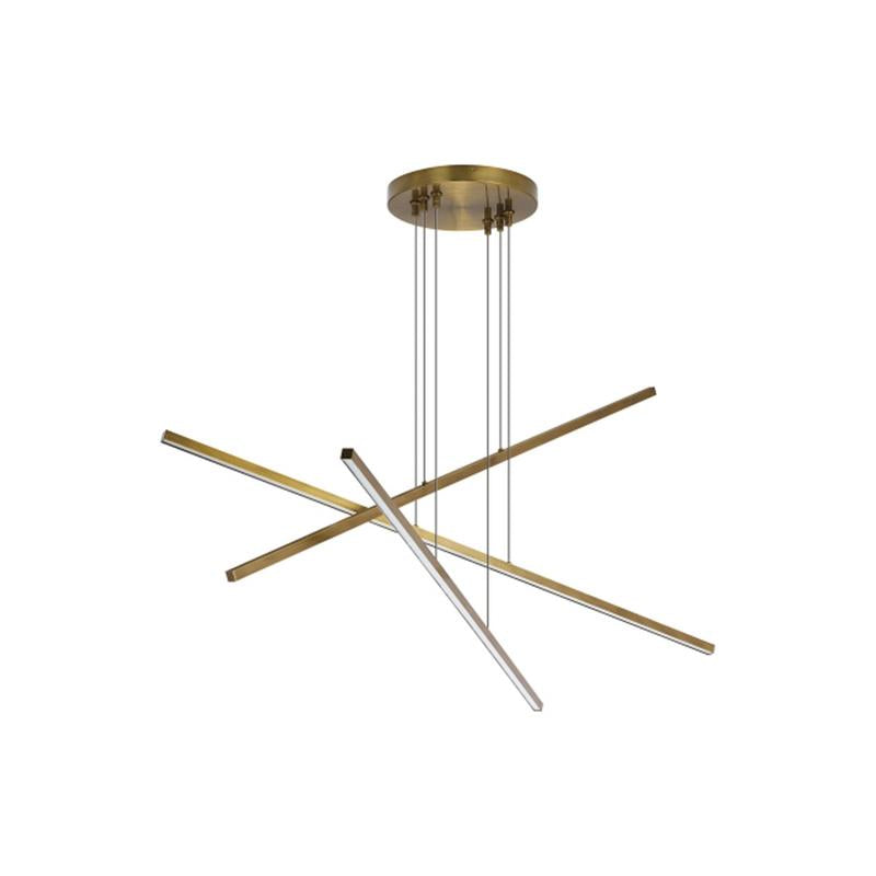 Essence Trio Linear Pendant - Aged Brass - LED - Tech Lighting