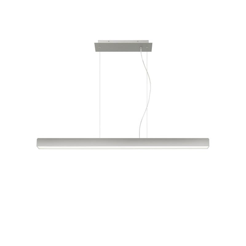 knox linear suspension in satin nickel, 3000k, tech lighting