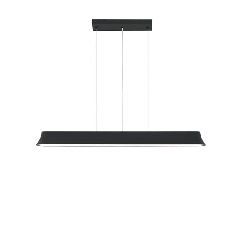 zhane linear pendant, black rubberized finish, tech lighting