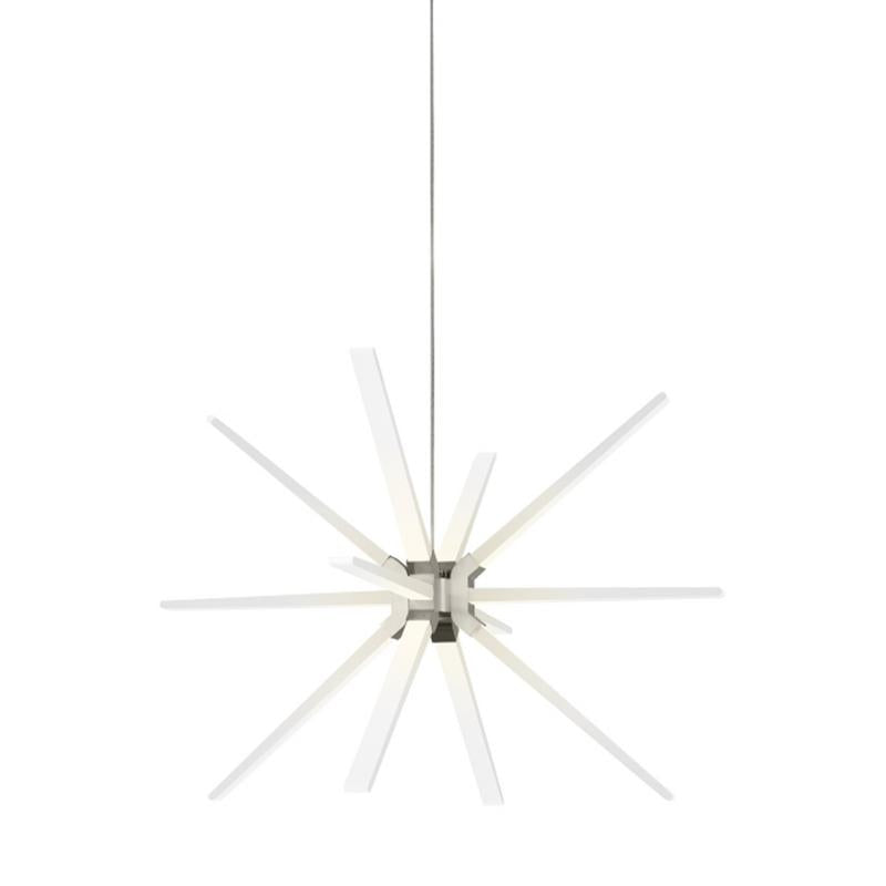 Photon LED starburst pendant in satin nickel from tech lighting