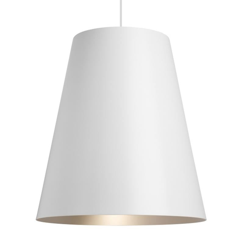 Gunnar Pendant with White exterior and Satin Haze interior finish from Tech Lighting