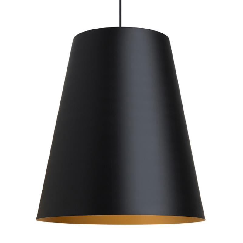 Gunnar Pendant with Black exterior and Satin Gold Interior finish from tech lighting
