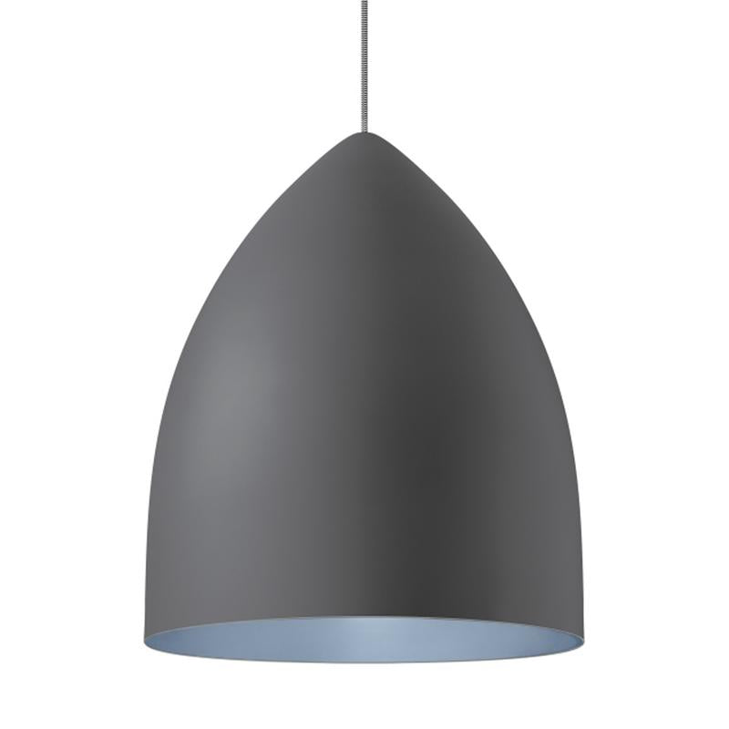 signal grande pendant in gray with blue interior from tech lighting
