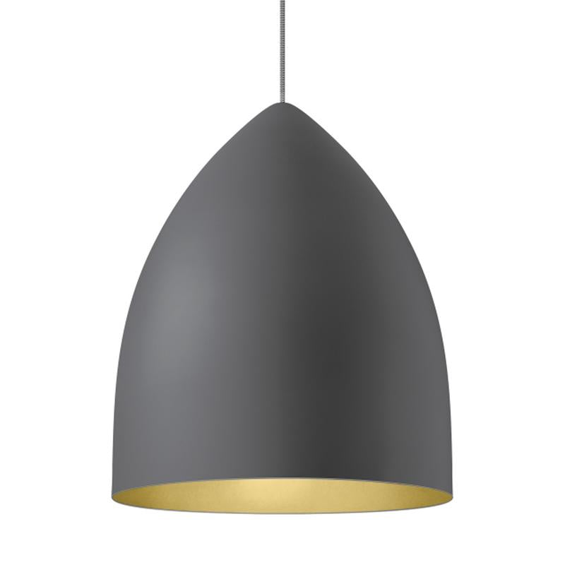 signal grande pendant in gray with gold interior from tech lighting