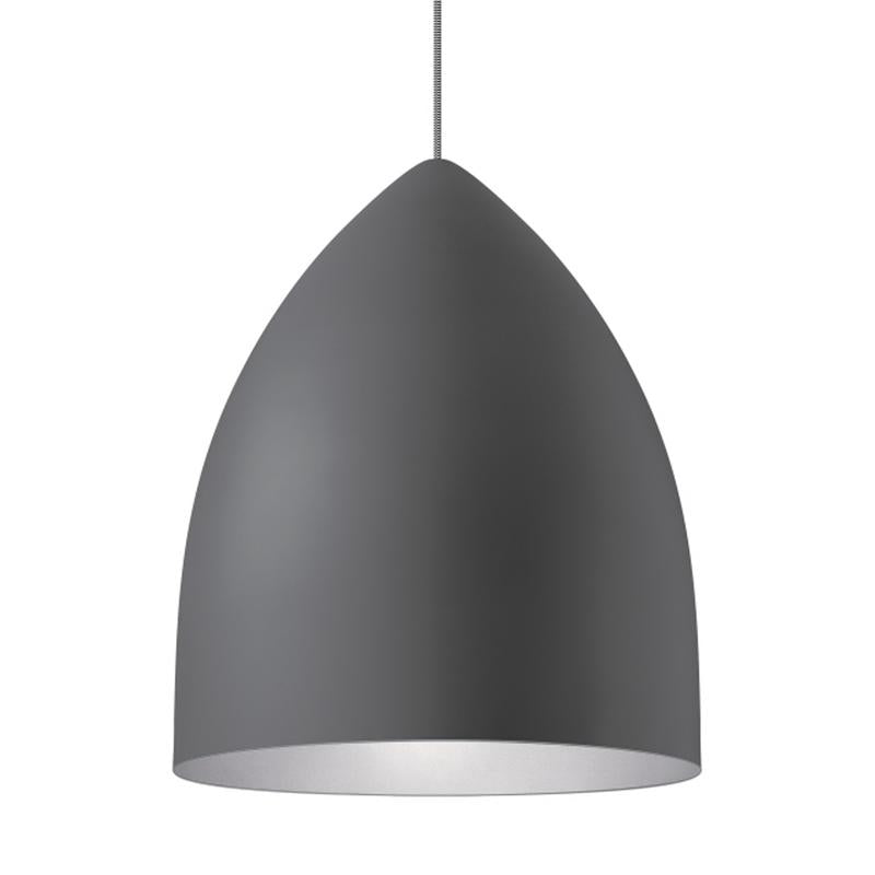 signal grande pendant in gray with platinum interior by tech lighting