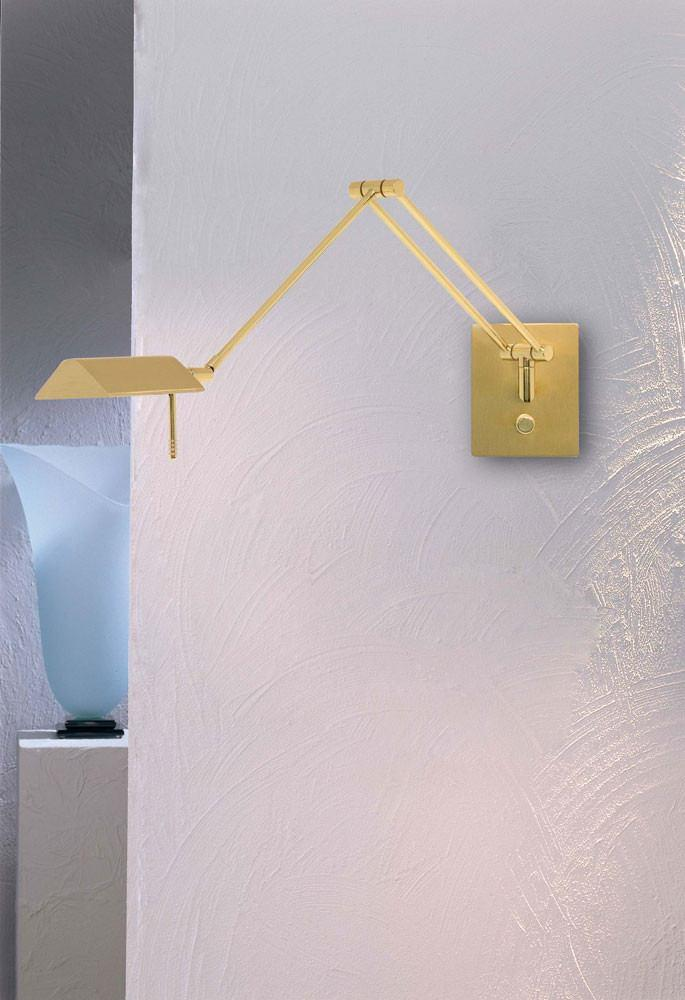 8191 SWING-ARM WALL SCONCE POLISHED BRASS/BRUSHED BRASS - 2