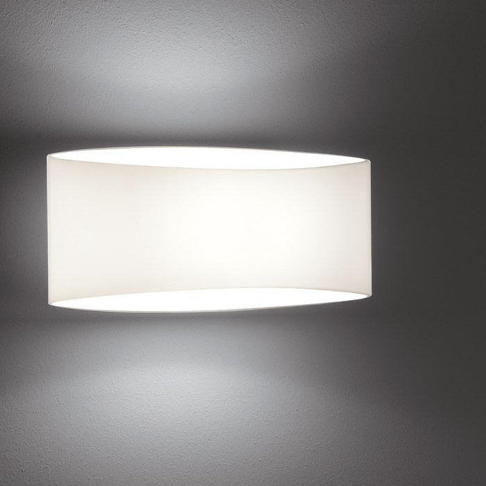 8502 WALL SCONCE WHITE GLASS - 2