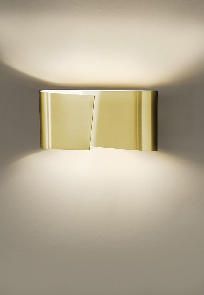 8531 SMALL HALOGEN WALL SCONCE BRUSHED BRASS - 1