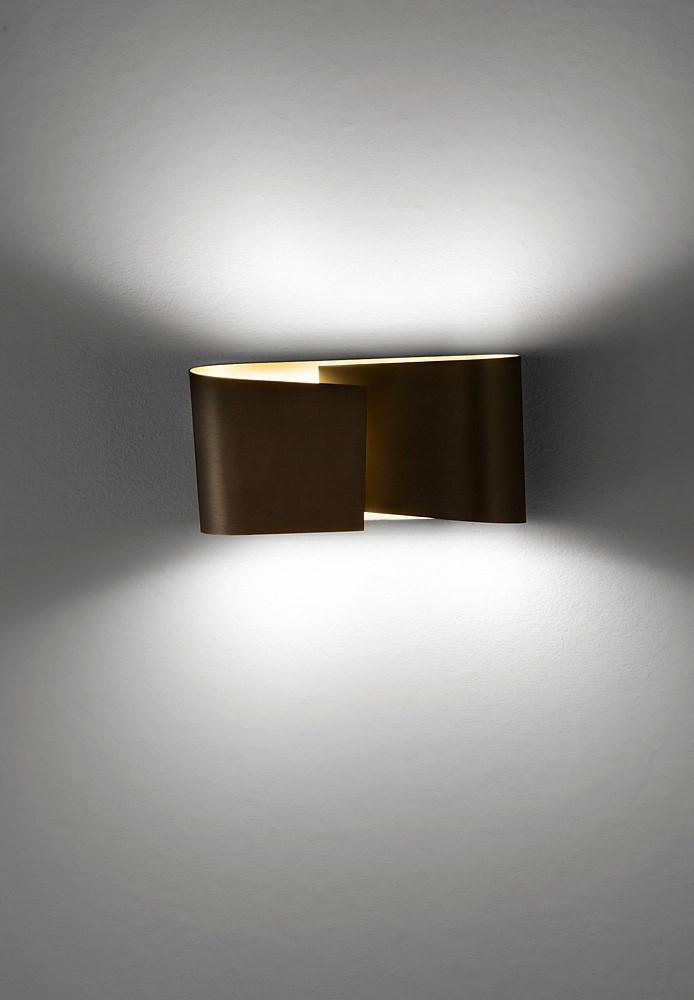 8531 SMALL HALOGEN WALL SCONCE HAND-BRUSHED OLD BRONZE - 2