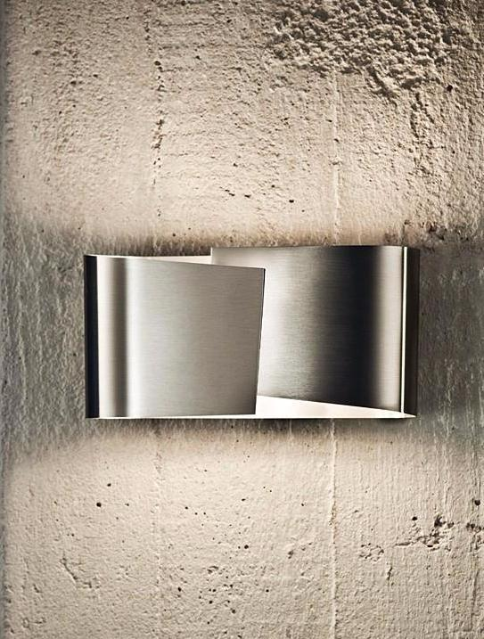 8531 SMALL HALOGEN WALL SCONCE STAINLESS STEEL - 3