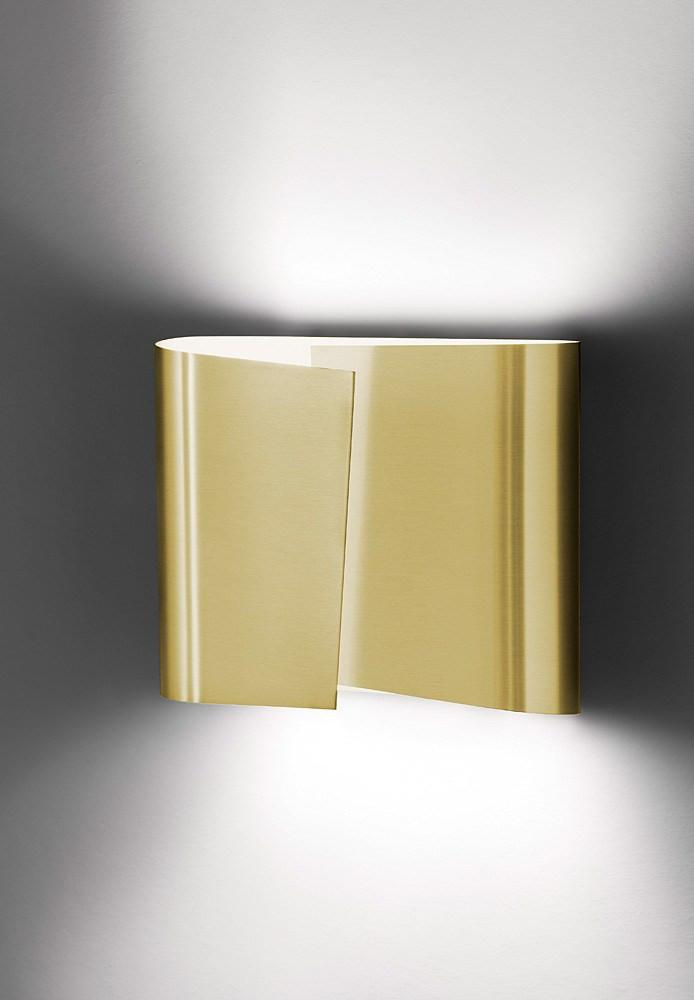 8532 LARGE HALOGEN WALL SCONCE BRUSHED BRASS - 2