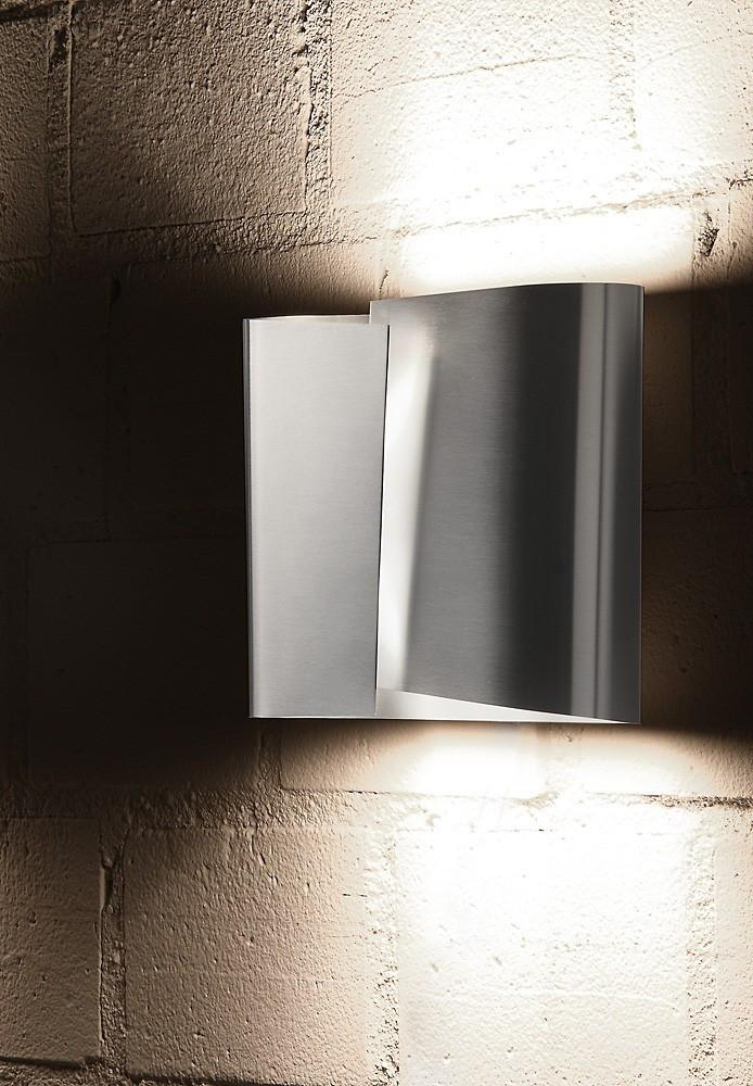 8532 LARGE HALOGEN WALL SCONCE STAINLESS STEEL - 1