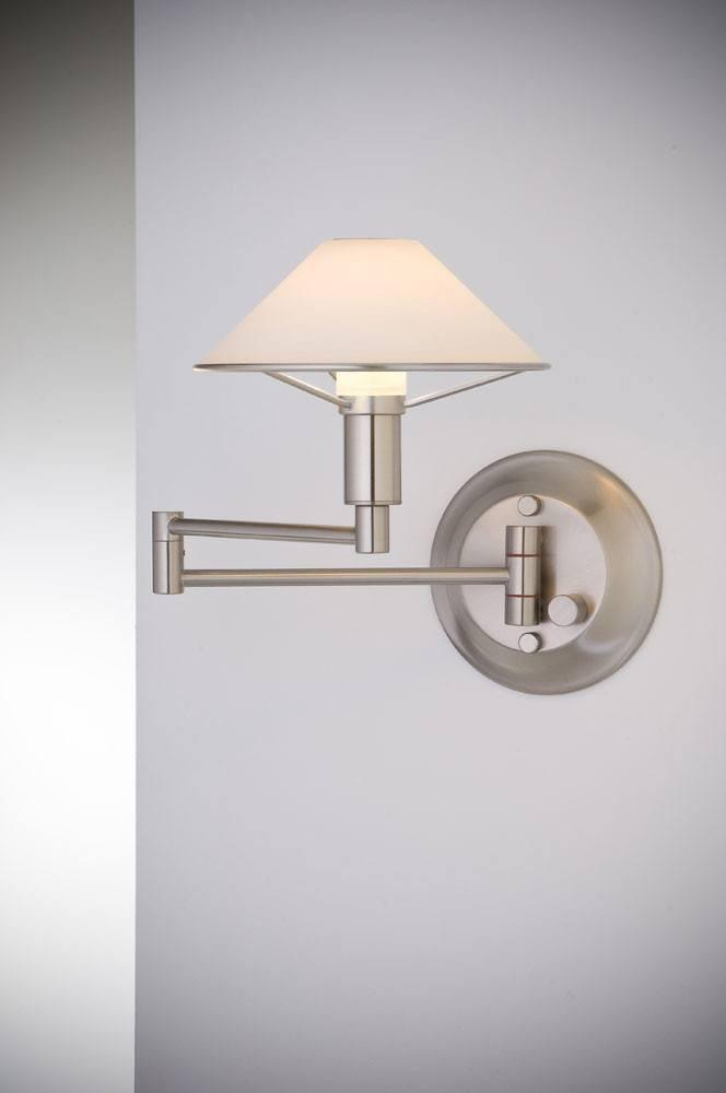 9426 SWING-ARM WALL SCONCE SATIN NICKEL / TRUE WHITE GLASS - 17