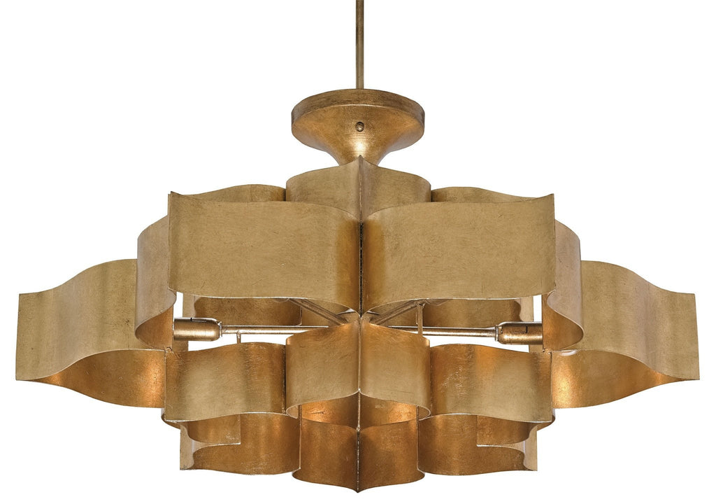 Grand Lotus Chandelier and Semi-Flush Mount