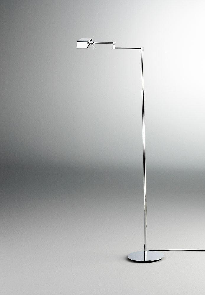 9680LEDP1 SWING-ARM FLOOR LAMP CHROME - 1