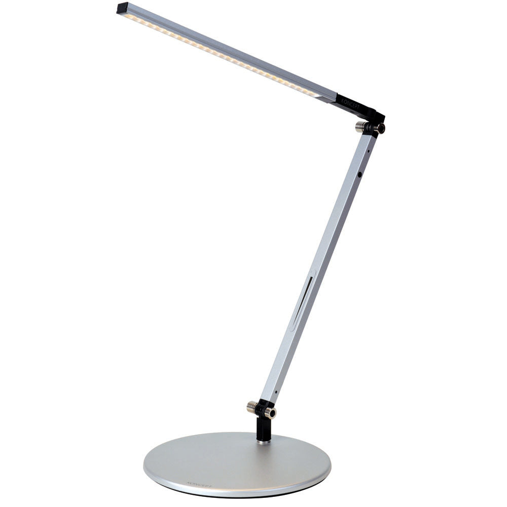 z-bar solo mini LED desk lamp, silver, warm or cool light, Koncept lighting
