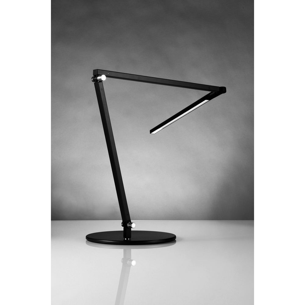 Koncept lighting, z-bar LED desk lamp, metallic black, warm and cool options
