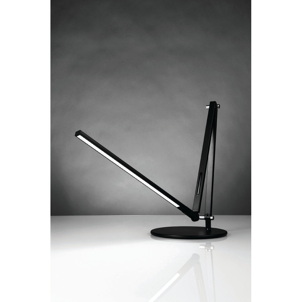 z-bar led desk lamp, flexible, metallic black, warm or cool options, Koncept