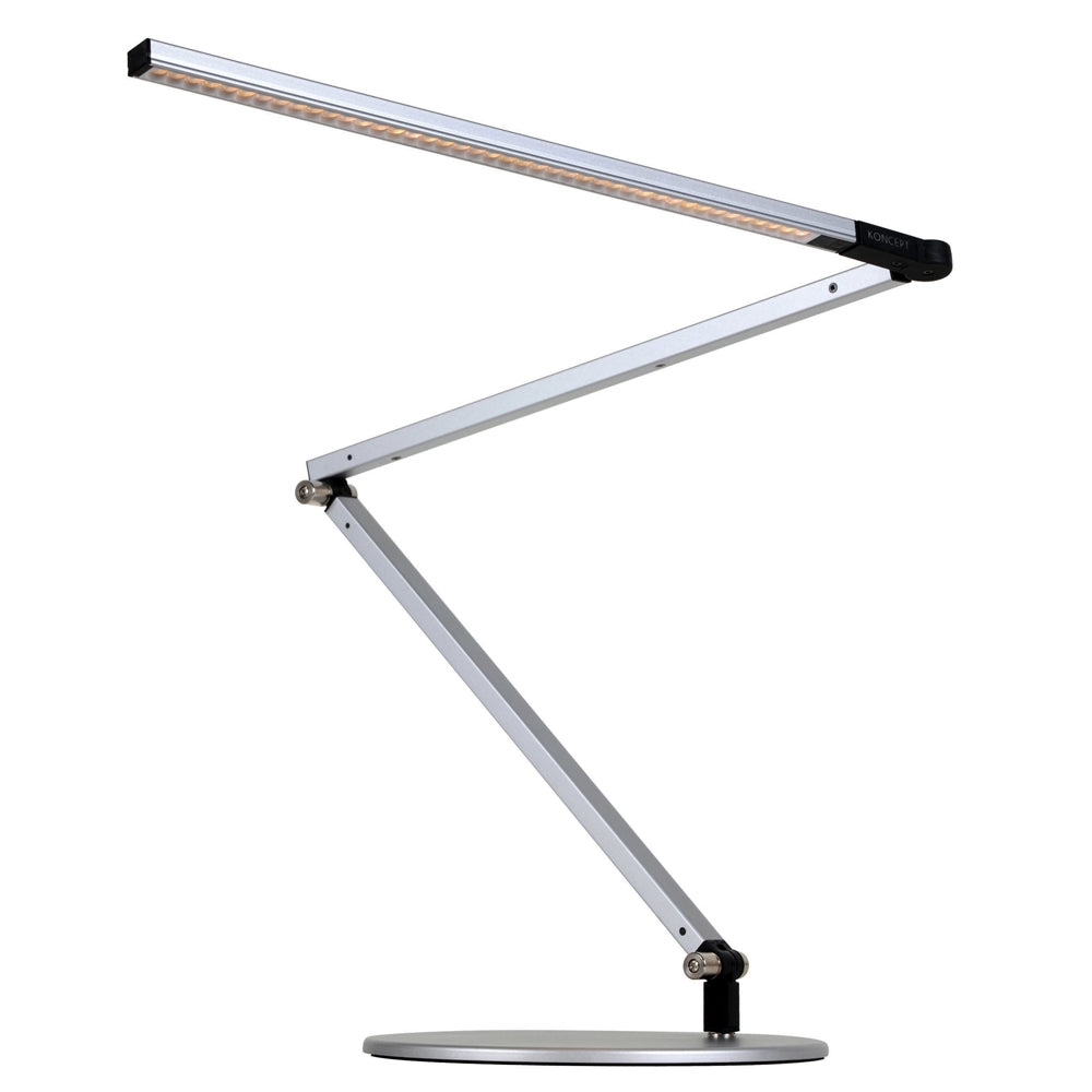 Z-Bar LED desk lamp, Silver, Warm or Cool, Koncept
