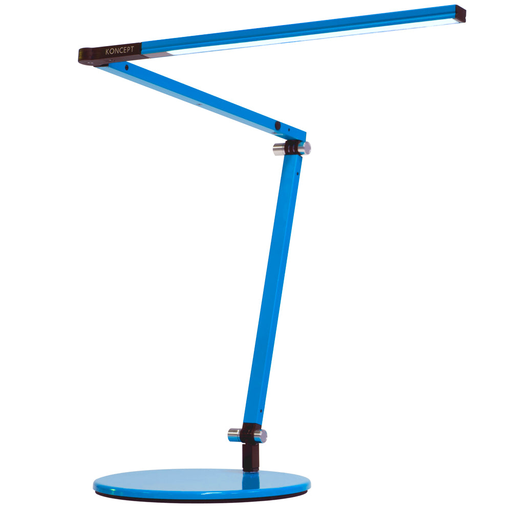 z-bar mini LED desk lamp, metallic blue, warm or cool option, Koncept