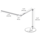 z-bar slim led desk lamp, technical drawing, dimensions, measurement, koncept lighting
