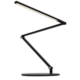 z-bar slim led desk lamp, metallic black, warm or cool, Koncept Lighting