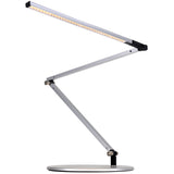 z-bar Slim LED desk lamp, silver, warm or cool, Koncept Lighting