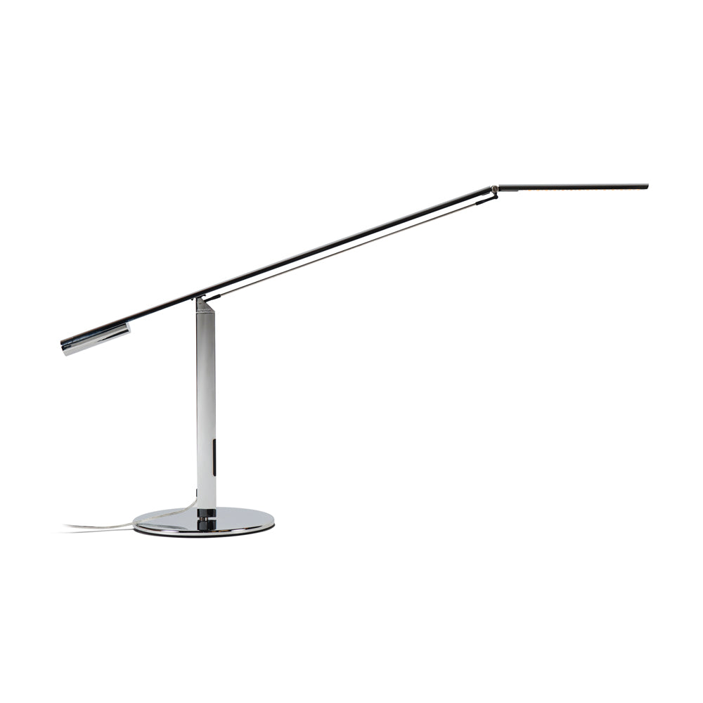 EQUO DESK LAMP, CHROME FINISH, LED KONCEPT