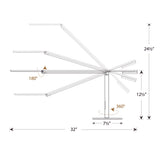 EQUO DESK LAMP, SPEC DRAWING, LED, KONCEPT