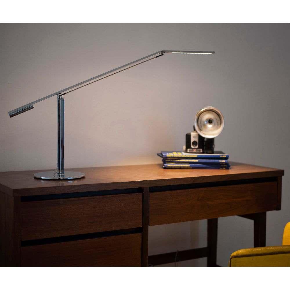 SILVER EQUO DESK LAMP LIGHTING WOOD DESK