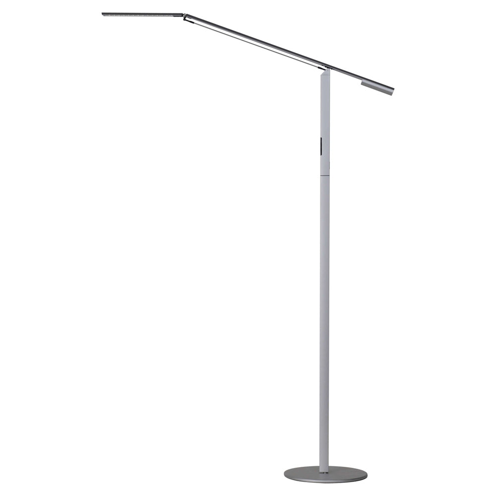 EQUO FLOOR LAMP, SILVER FINISH, LED, KONCEPT