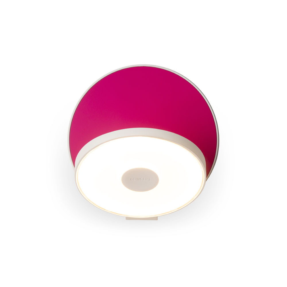GRAVY LED WALL SCONCE, MATTE HOT PINK/WHITE, KONCEPT