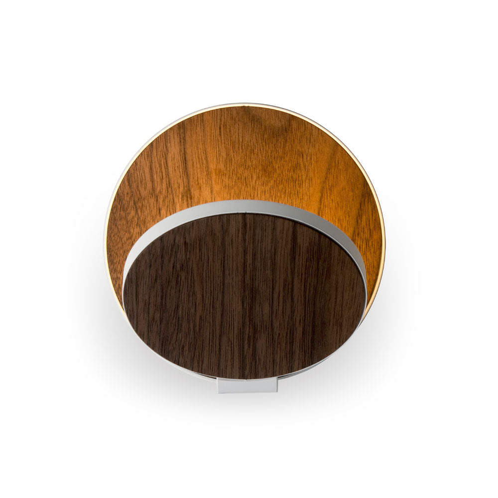 GRAVY LED WALL SCONCE, OILED WALNUT/WHITE, KONCEPT