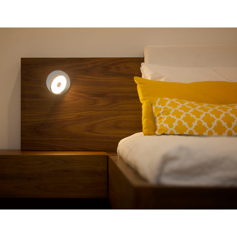 KONCEPT GRAVY WALL SCONCE AS BEDSIDE READING LIGHT