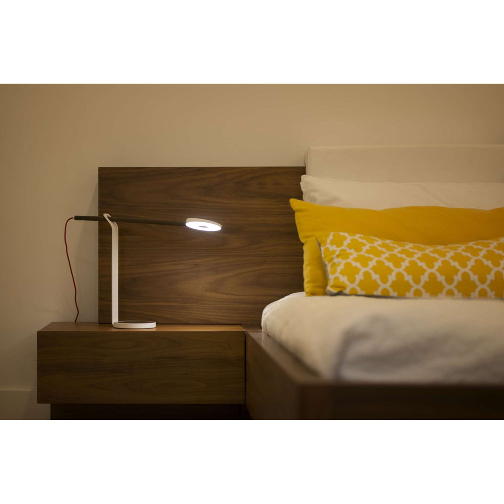 KONCEPT GRAVY DESK LAMP AT BEDSIDE