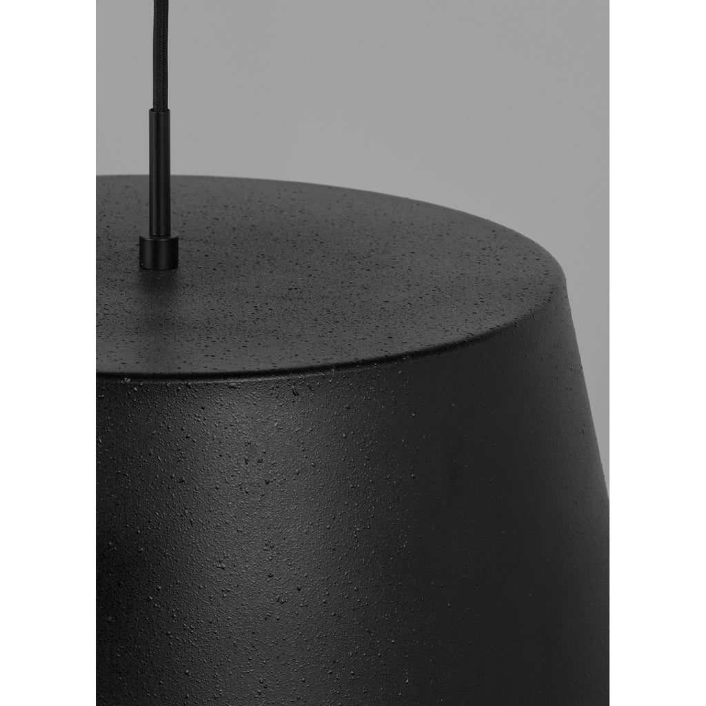 Detail view of Black Henley Pendant from Tech Lighting