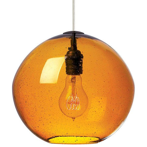 Isla Pendant AMBER / SATIN NICKEL - 1