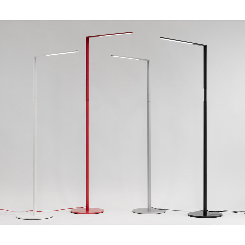 Lady 7 Floor lamp, finishes, Matte White, Matte red, Silver, metallic black, LED, Koncept