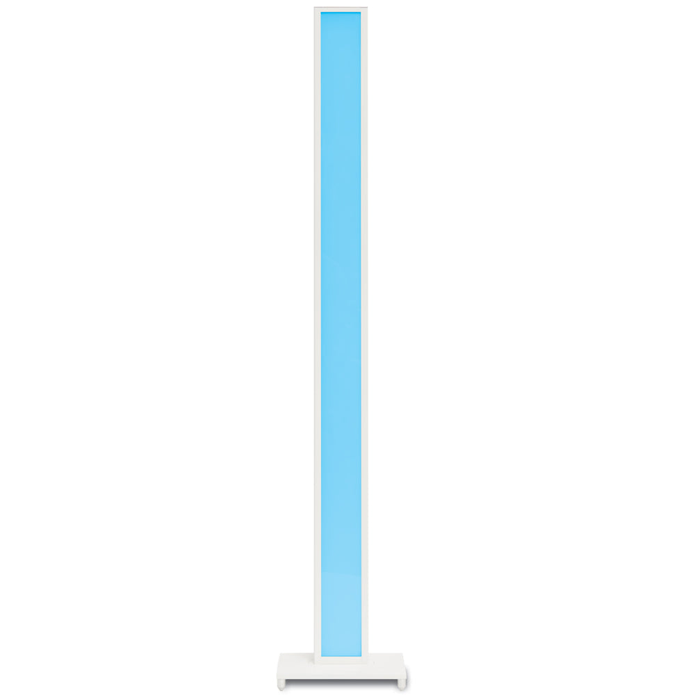 Tono LED floor lamp lit in blue, koncept lighting