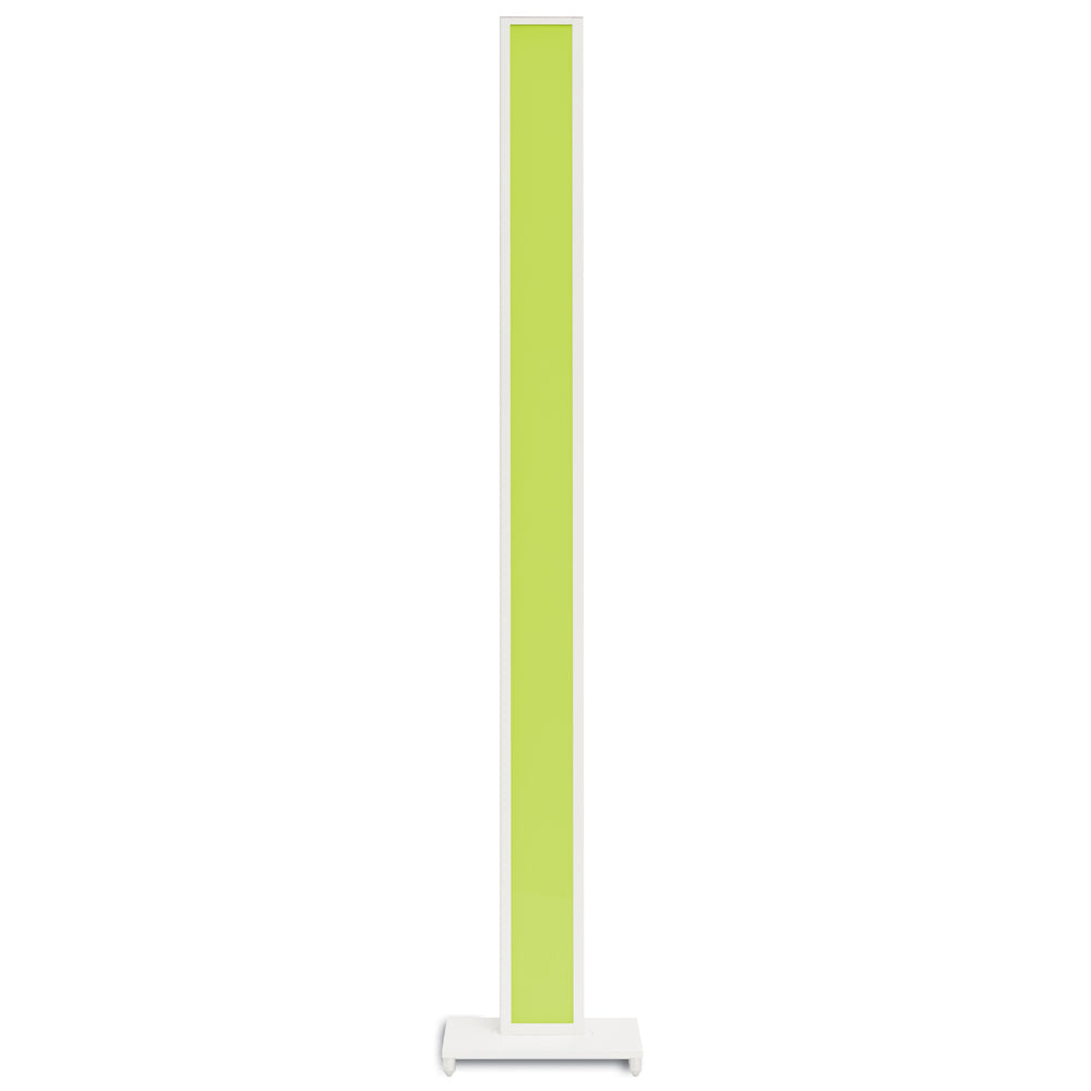 Tono LED floor lamp lit in green, koncept lighting