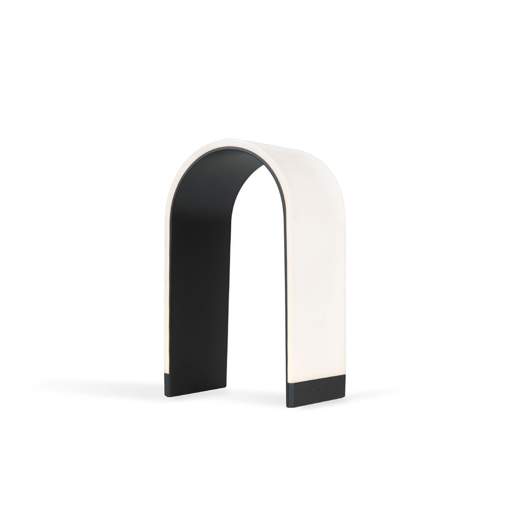 mr. N arch shaped table lamp, LED, Metallic black, koncept