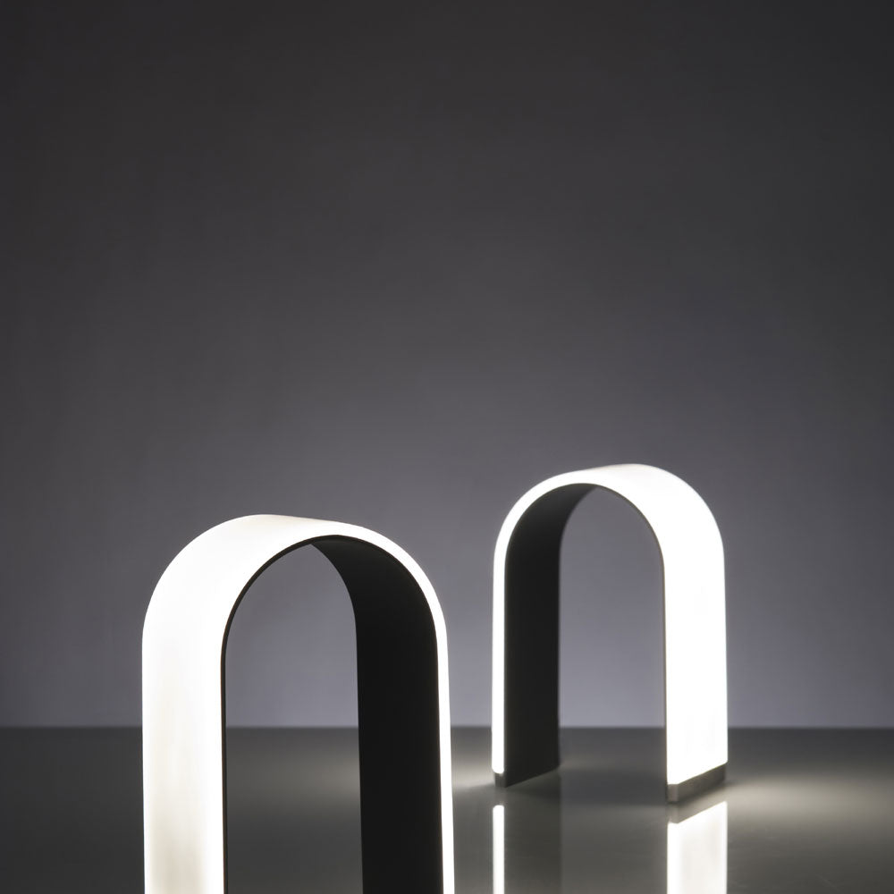 metallic black mr. N LED table lamp, Koncept lighting