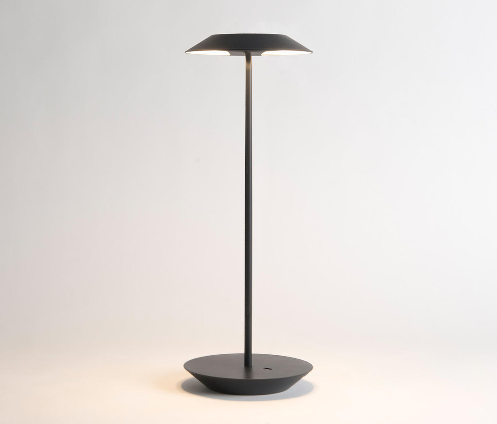 Royyo LED desk lamp in Matte Black with Matte Black base plate from Koncept lighting