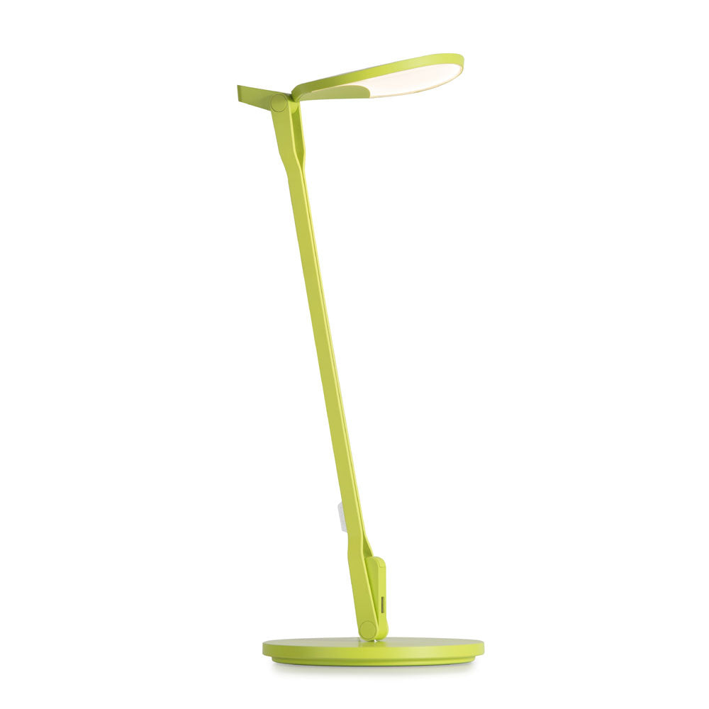 Matte Leaf Green Splitty LED desk lamp from Koncept lighting