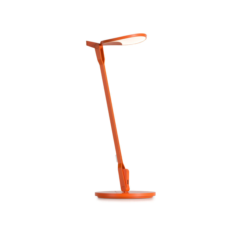 Matte Orange Splitty LED desk lamp from Koncept lighting