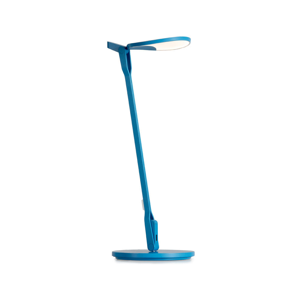 Splitty LED desk lamp in matte pacific blue from Koncept lighting