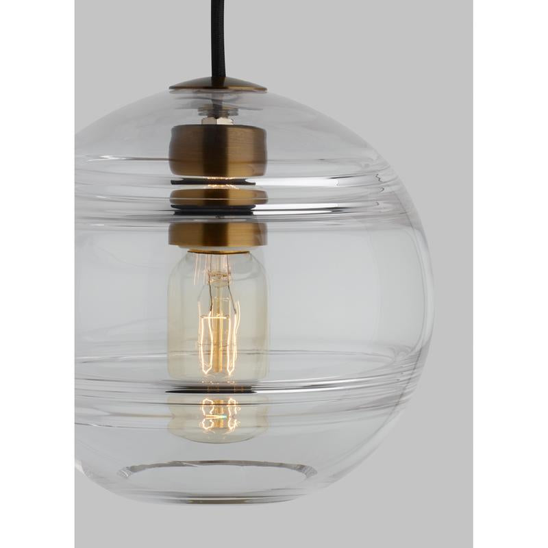glass details of the sedona grande pendant from tech lighting