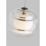 clear glass sedona pendant top details